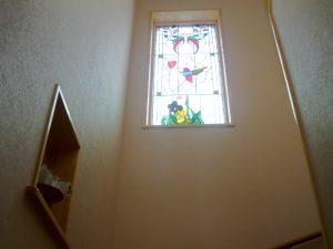 ステンドグラス階段